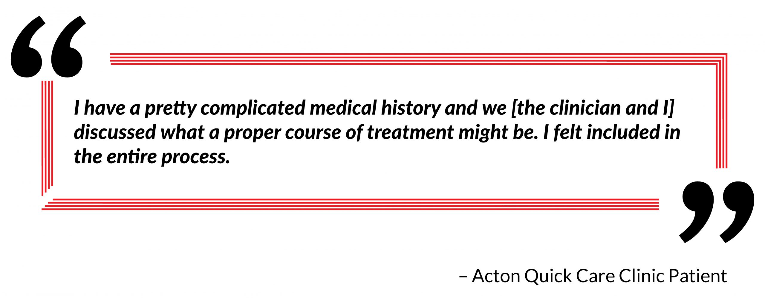 patient quote and testimonial on practice visit